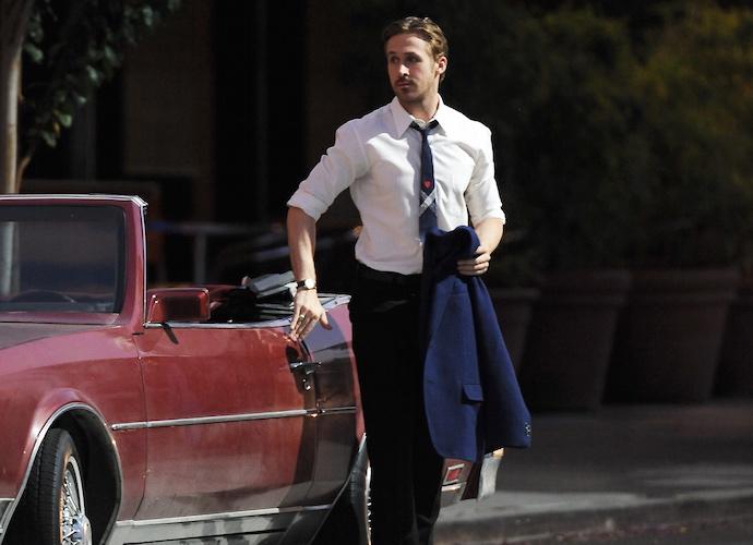 "Ryan Gosling and Emma Stone having fun in ""La La Land"""